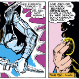 Don't you hate it when your best friend's soul gets split by a cosmic force and suddenly you're stuck with her eldritch armor, weapon, and amulet, when all you really wanted was a library book? Yeah, us, too. (New Mutants #36)