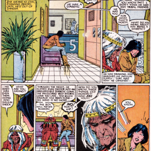 A very different brush with death. (New Mutants #41)