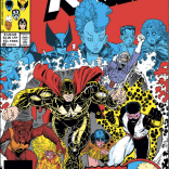 While X-Men and New Mutants will shortly start crossing over in the series proper, this was the second consecutive year they had interconnected annuals. (X-Men Annual #10)