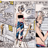 Lila goes and changes, but seriously, how great is this look? SO GREAT, RIGHT? (New Mutants #42)