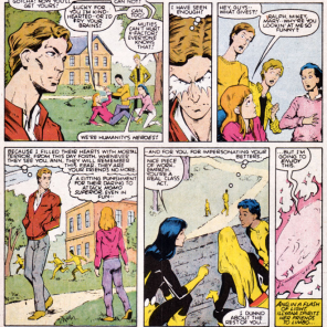 In the New Mutants' defense, Empath is in fact the literal worst. (New Mutants #43)