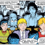Darla is inexplicably dressed as Li'l Orphan Annie, which might make this a meta cameo. (X-Men Annual #10)