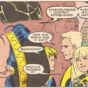 Kinda love the team reaction shot going on here. (New Mutants #44)