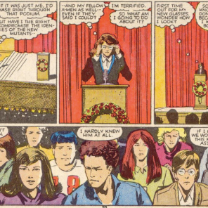 Trivia: This scene has been referenced in a number of flashbacks, but it's almost always misidentified as Doug Ramsey's funeral. (New Mutants #45)