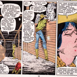 Yeah, I can see how that might put a crimp into a friendship. (New Mutants #41)