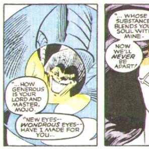 Mojo is the best at being TERRIFYING. (New Mutants Annual #2)