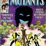 Hint: It's the friend who can turn into a sinister-looking silhouette. (New Mutants #49)