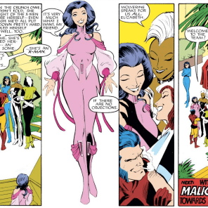 How much do we love Psylocke's totally femme-princess superhero costume? SO MUCH. (Uncanny X-Men #213)