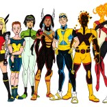 The full team, by Mike Becker. I particularly love the many subtle nods to future teams and costumes!