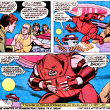 Hank meets Roy Thomas, and the Juggernaut literally falls out of the sky. (Amazing Adventures #16)