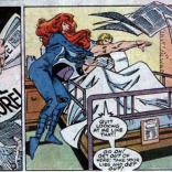 WHO KEEPS BRINGING HIM NEWSPAPERS? Probably Cameron Hodge. JERK. (X-Factor #15)