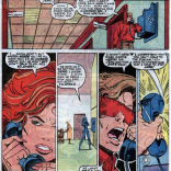 """""""Also, I think I might have a kid? I'm pretty sure there was a plot point about that last issue."""" (X-Factor #15)"""