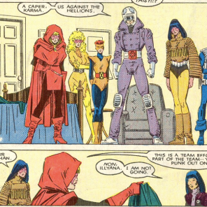 """I love you, but I have to leave the team because your costumes are SO BAD."" (New Mutants #54)"