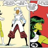 Let's all take a moment to appreciate Storm's AMAZING outfit. (Fantastic Four Versus the X-men #4)