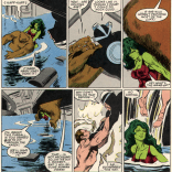 It's kind of like The Lady or the Tiger, only it's The Naked Dude and the Bear but also They're the Same Person, so actually it's not really very much like The Lady or the Tiger at all. (X-Men vs. Avengers #3)
