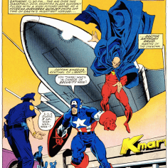 Look! It's Captain America! And... Dr. Druid. Okay, then. (X-Men vs. Avengers #1)