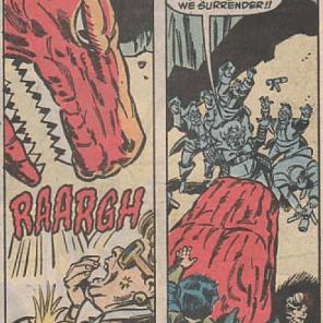 Devil Dinosaur: master diplomat. (Fallen Angels #8)