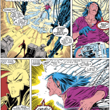 It's somehow creepier that he turns out to be a hologram. (Uncanny X-Men #220)