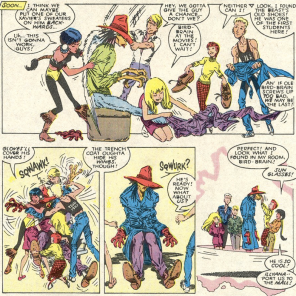 Saturday Morning New Mutants. (New Mutants #57)