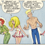 Nothing is okay. Nothing will ever be okay again. Also, why the hell does Dani sleep in fishnets? (New Mutants #58)