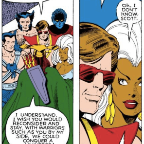 "Somewhere in the multiverse, there's a universe where the X-Men went, ""Fuck it. Let's just go be space barbarians."" (X-Men Annual #3)"