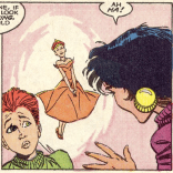 This dress was one of the most memorable parts of this issue for both of us. (New Mutants #55)