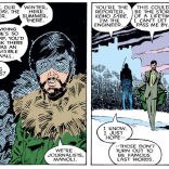 Repping the fourth estate, Neal Conan and Manoli Wetherell. (Uncanny X-Men #226)