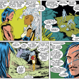 She comes back a year later, and Forge has cannibalized his bionic parts to make a sweet Freddie Mercury costume. (Uncanny X-Men #226)