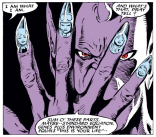 Has anyone ever tried to reproduce this awesome manicure IRL? You should do that. (Uncanny X-Men #234)
