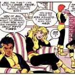 Can we have a moment of rapt silence for how well June Brigman draws body language? (New Mutants Annual #4)