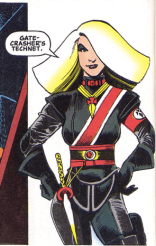 She may be the evil dictator of a crypto-Nazi dystopian Earth, but damned if Sat-Yr-Nin doesn't have great hair.