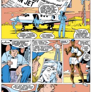 Hawkshaw's actual mutant power is talking in old-timey detective slang. (Uncanny X-Men #235)