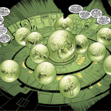 """Apocalypse's true, diabolical plan, as realized in """"The Twelve"""": To capture a bunch of mutants and I guess put them in little terrariums? Apocalypse is a complicated guy. (Uncanny X-Men #377)"""