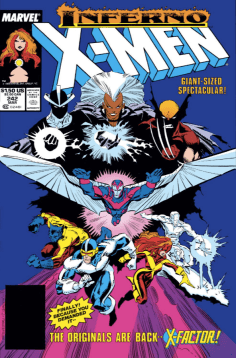 It's the whole gang! Kind of! And some of them are evil! BUT STILL! (Uncanny X-Men #242)