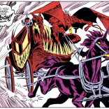 N'astirh may be evil, but he has impeccable taste in infernal vehicles. (Uncanny X-Men #242)