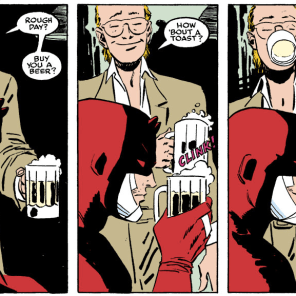 For 1989 Daredevil, this ending is positively chipper. (Daredevil #265)