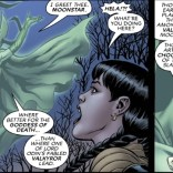 Hela's presence makes any scene in which she appears at least 20% more epic than it would otherwise have been. I mean, damn - that hat, right? (New Mutants Forever #1)