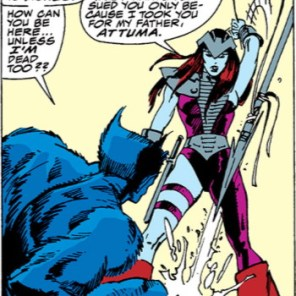 """""""No time to process your deep-seated trauma at watching half your friends die - time to punch my dad!"""" (X-Factor Annual #4)"""