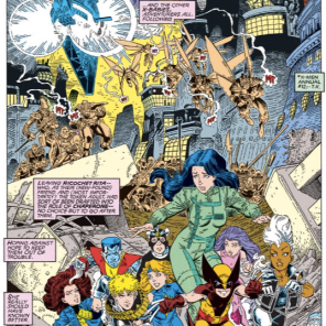 Now, THAT'S how you do an opening splash page. (Excalibur: Mojo Mayhem)