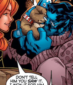 The Cap Bear's single canon appearance.