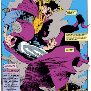 That cloak! Those Kent Williams inks! (Uncanny X-Men #252)