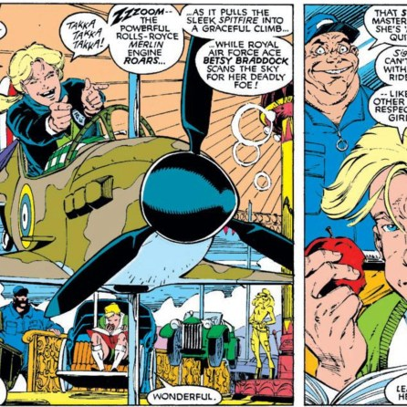 Betsy and Brian Braddock: charming young dorks. (Uncanny X-Men #256)