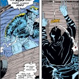 Heh, it's the ol' cigar-on-the-ninja gag. I never get sick of that one. (Uncanny X-Men #257)