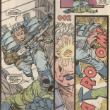 """Cable's official on-page debut (not counting a """"next issue"""" blurb): (New Mutants #87)"""
