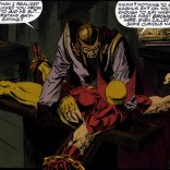 Fantasy-Magneto's outfit: not all that different from Normal-Magneto's outfit. That reflects well on both of them. (Wolverine: Rahne of Terra)