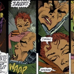 Wake up, punch Cable, fall back asleep. I'd call that a successful day! (Wolverine: Rahne of Terra)