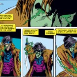 Gambit's powers used to work a little differently. Well, for one issue, anyway - the whole eyes-and-spikes thing will be mostly gone by next time. (Uncanny X-Men #266)