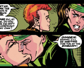 My first kiss was basically exactly like this. (New Mutants #95)