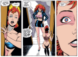 But if he can hypnotize her just by making eye contact, why bother doing this? Just to mess with her for fun? Total dick move.(Excalibur #33)