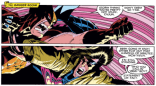 We unironically adore this ridiculous pair of panels. (Uncanny X-Men #273)